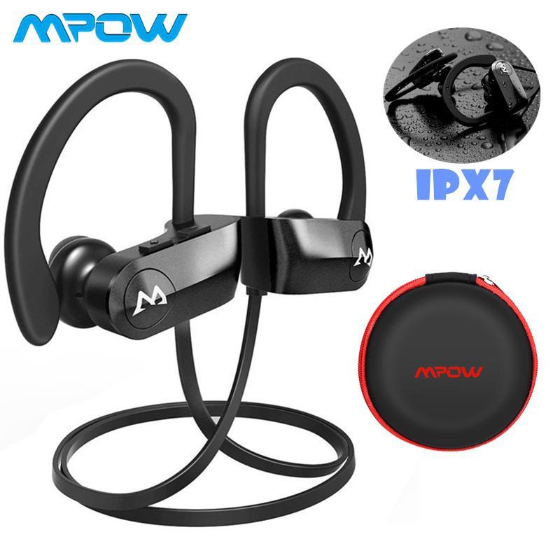 067236042f5647 Mpow D7 Bluetooth Earphones Waterproof Richer Bass Stereo w/Mic 10~12Hrs    Shopee Malaysia