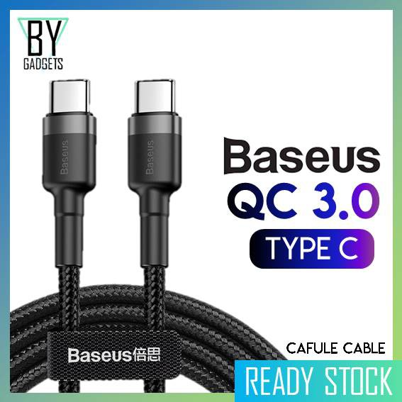 Baseus TYPE C to TYPE C Cable QC 3 0 PD 2 0 Cafule Series for Quick Charge  & Fast Charging Technology