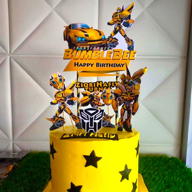 Terrific Cake Toppers Bumblebee Shopee Malaysia Funny Birthday Cards Online Inifofree Goldxyz
