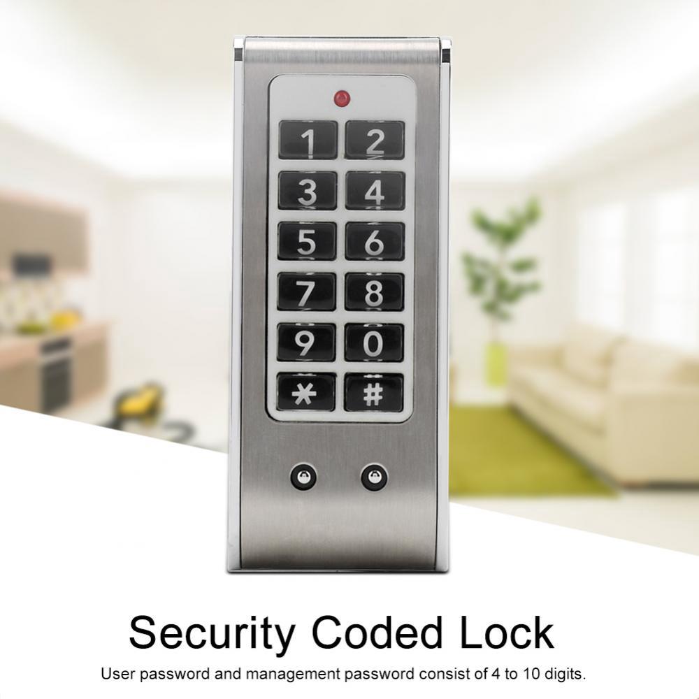 3 Digit Code Combination Cam Cabinet Silver Zinc Alloy Convenient Password Security Coded Lock Hasps & Locks