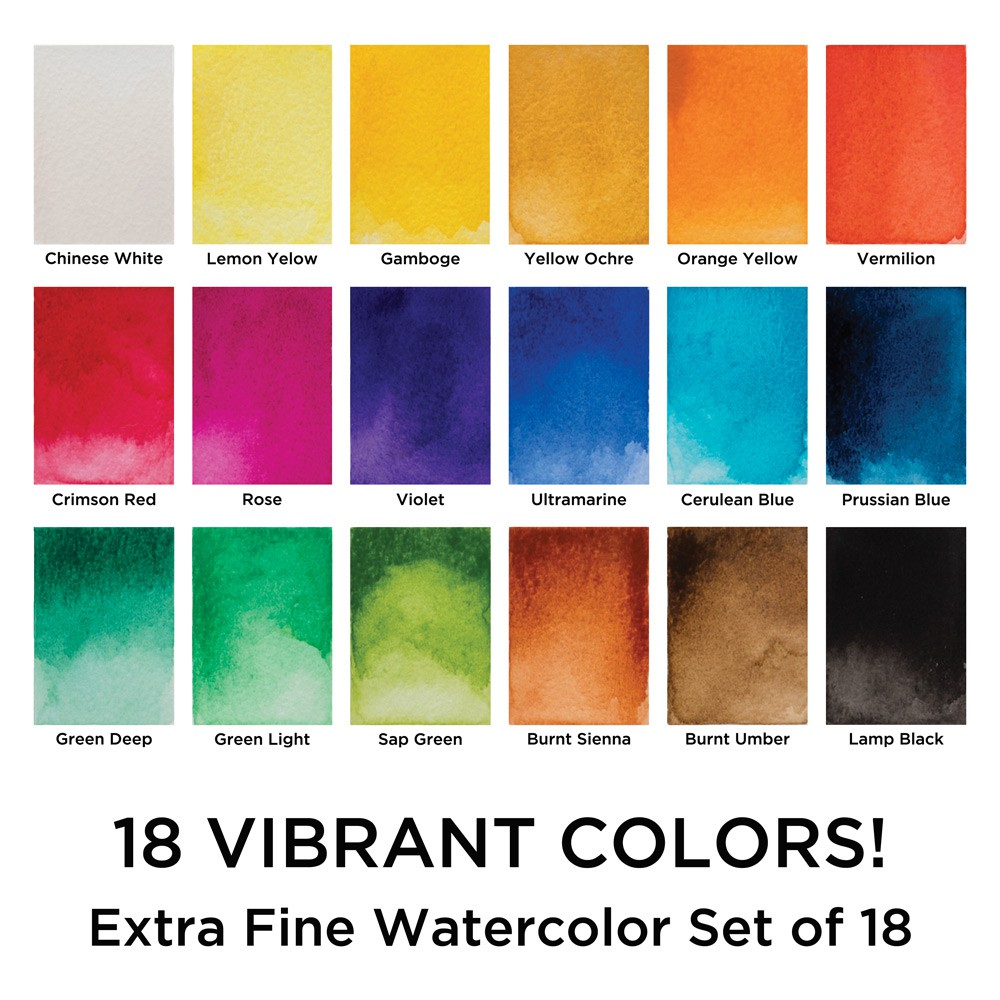 Marie's Water Color E1338B 12ml Set of 18 colors | Shopee