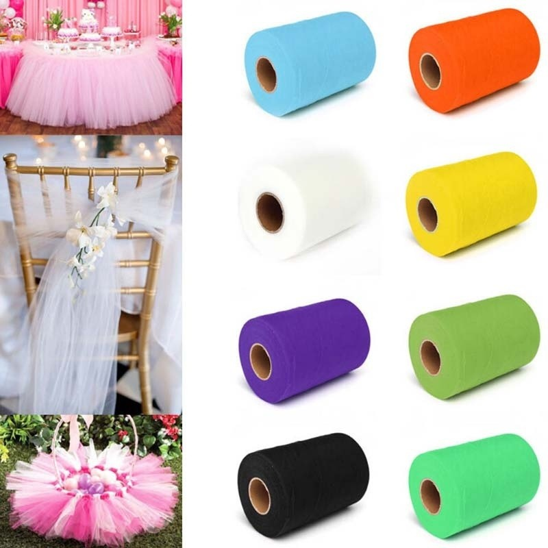 New Tulle Roll Spool 6x 25yards For Wedding Party Celebration Tutu Skirt Chair Sash Decortaion Diy Fabric Wholesales Colours Are Striking Event & Party