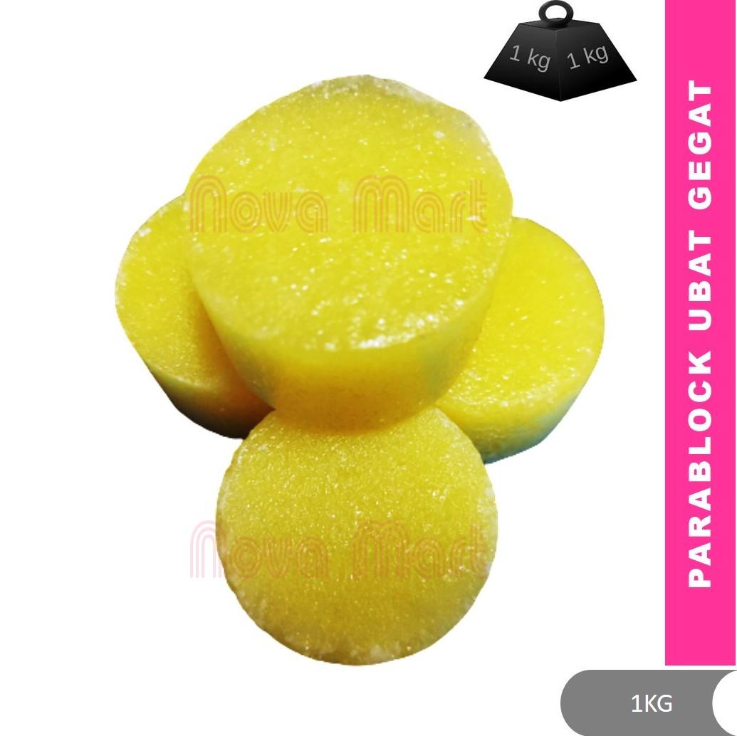 1KG Deodorant Para Block Toilet Deodorant Block Ubat Gegat Kuning Pewangi Tandas Urinal Penghalau Lipas Tikus