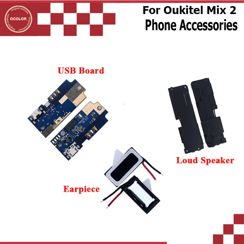 For Oukitel Mix 2 Loud Speaker For Oukitel Mix 2 USB Plug Charge Board Fo