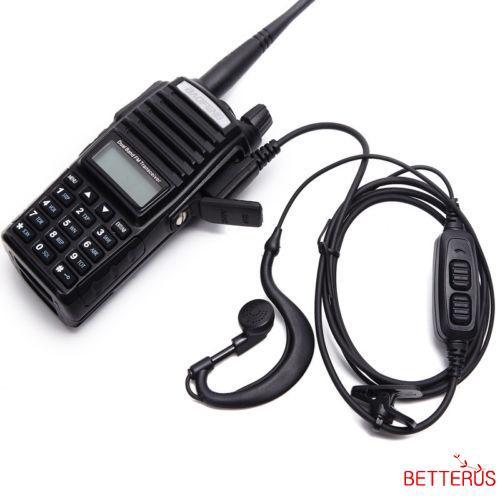 2Pin PTT Earpiece Headset For Baofeng UV82 UV5R Retevis H777 BF-888s RT-5R 151mm