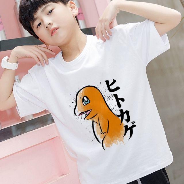 Pokemon T-shirts Charmander Squirtle Bulbasaur PIkachu Eevee 150cm