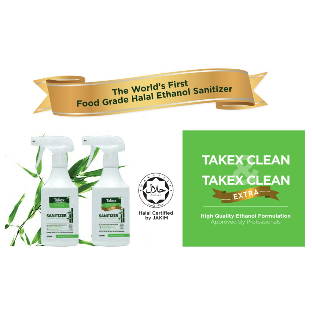HAND SANITIZER 100ML - Takex Clean Extra Multipurpose Sanitizer ...