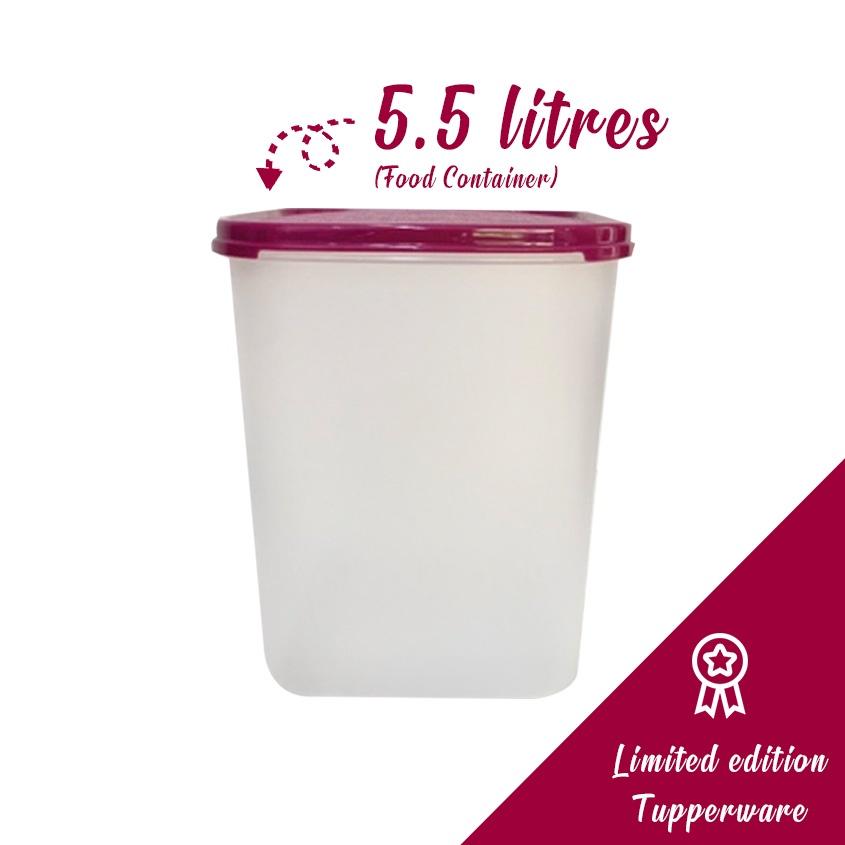 Tupperware Modular Mates Square Set (5.5L) Maroon Container food box lunch storage fridge fridge cookies biskuit