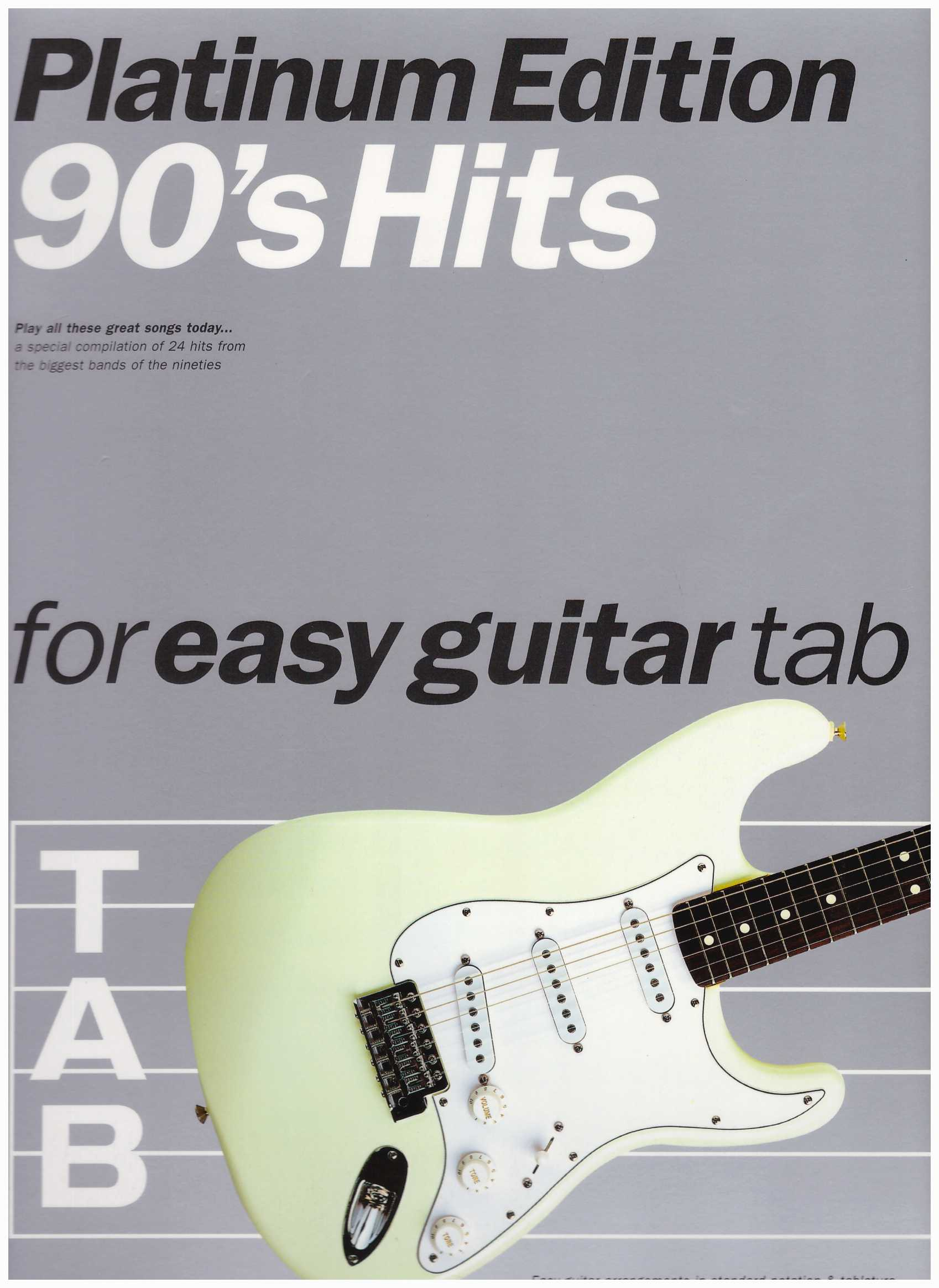 Platinum Edition 90's Hits For Easy Guitar Tab / Pop Song Book / Vocal Book / Guitar Book / Tab Book / Guitar Tab Book