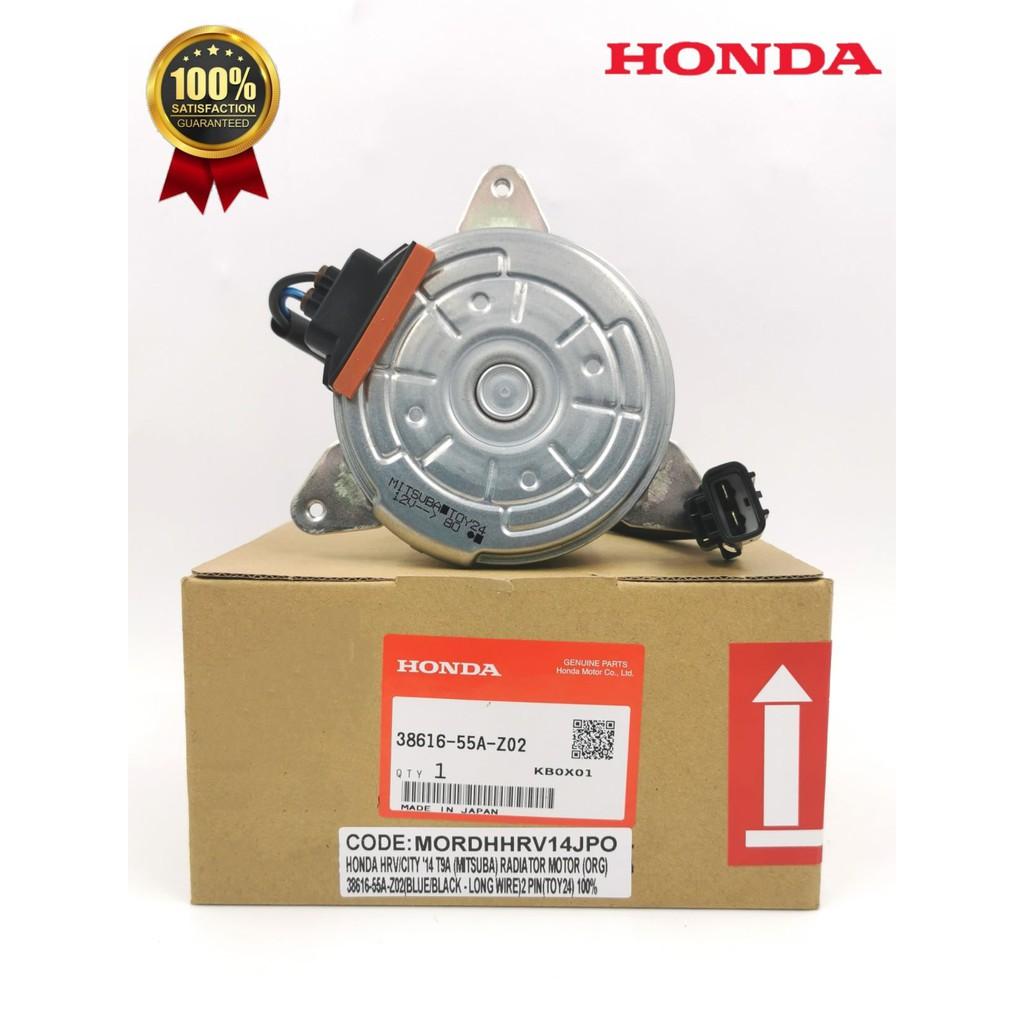 MORDHHRV14JPO-HONDA HRV/CITY'14 T9A(MITSUBA)RADIATOR MOTOR(ORG)38616-55A-Z02(BLUE/BLACK-LONG WIRE)2 PIN(TOY24)100%