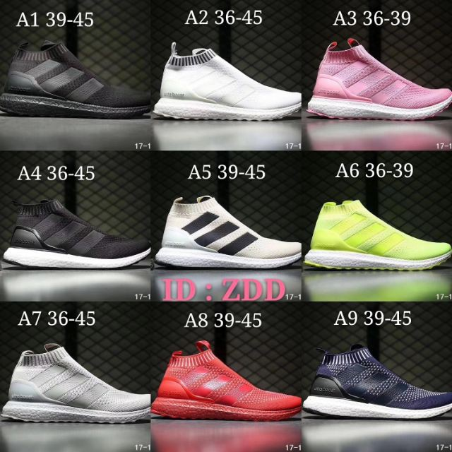 524e0b23 ??Ready Stock??Adidas Ace 16+ Purecontrol Boost Midcut real boost causal  runner. | Shopee Malaysia ??