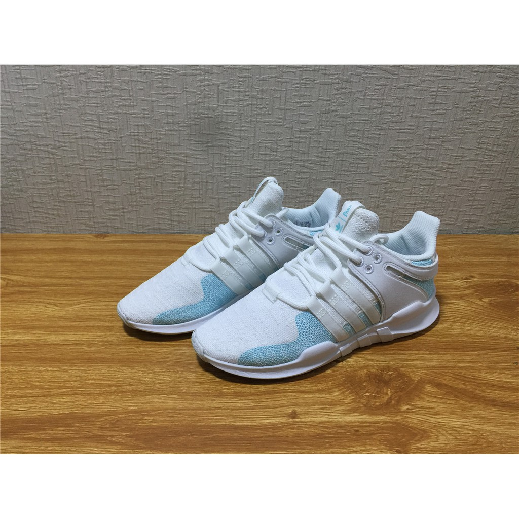 new concept 3d46e 41afe adidas original EQT SUPPORT racing ADV CK parley white blue breathble  sportshoe