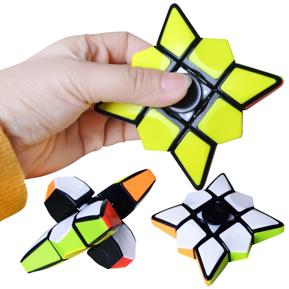Spinner Cube Rubiks Hand Spinner EDC Focus ADHD Autism Finger Toy