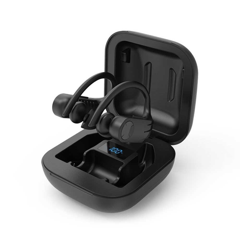 B1 Bluetooth 5.0 TWS Earbuds True Wireless Headphones with Dual Mic Ear-hook Earphone Twins Sports Headset Charging Box