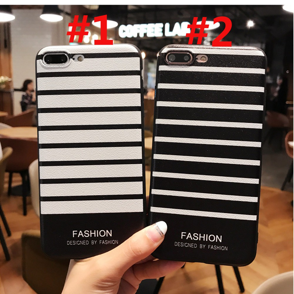 Casing Realme 2 5 3 Pro XT X C2 C1 U1 Case Stripe Soft Slim Black White  Silicone TPU Cover