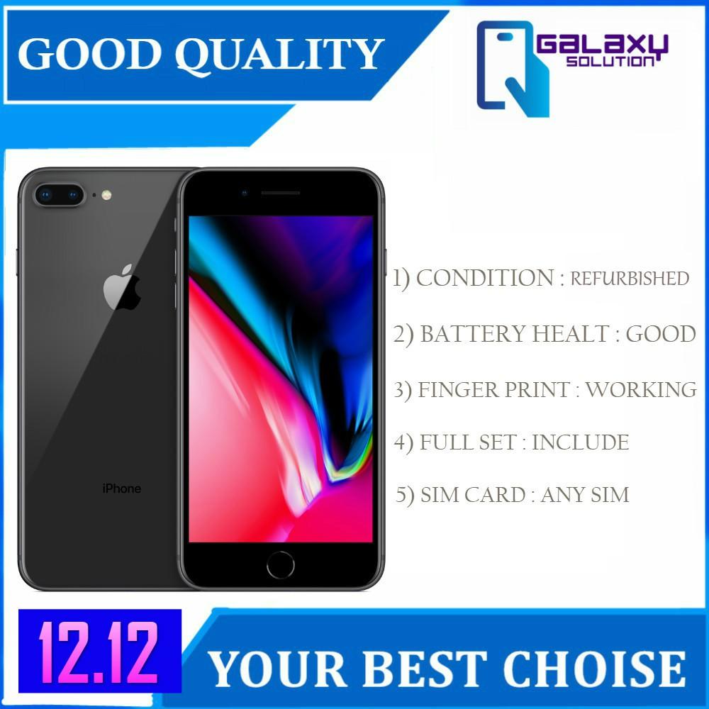 iPhone 8 Plus 256GB / 64GB (Original New Refurbished) [1 Year Seller Warranty]