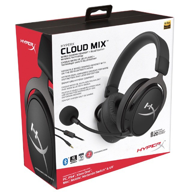 {HX-HSCAM-GM} HyperX Cloud Mix Headphone Wired Gaming Headset + Bluetooth with Hi-Res Audio