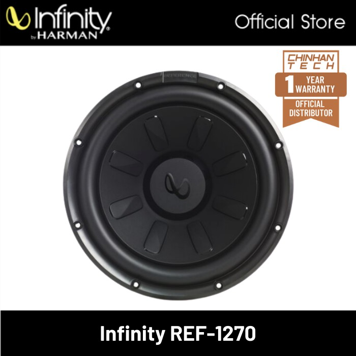 """Infinity Reference REF-1270 12"""" Component Subwoofer with Selectable impedance"""