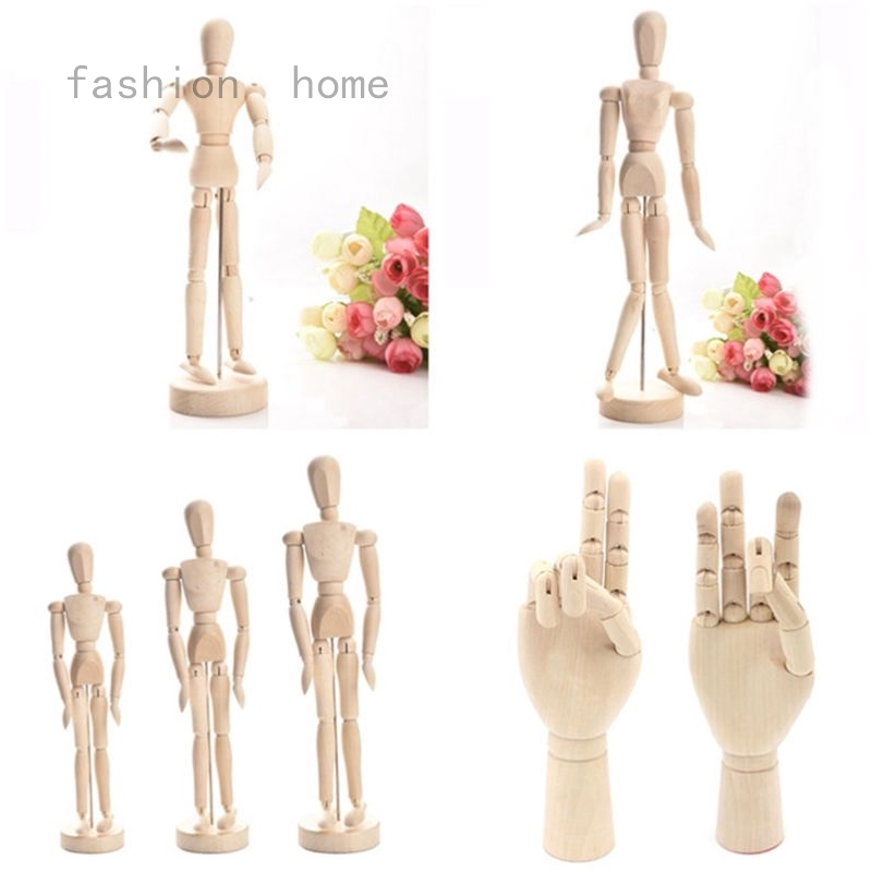 """Wooden Man Human Figure Model for Painting Artist 5.5/"""" 12/"""" Fashion NEW 8/"""""""