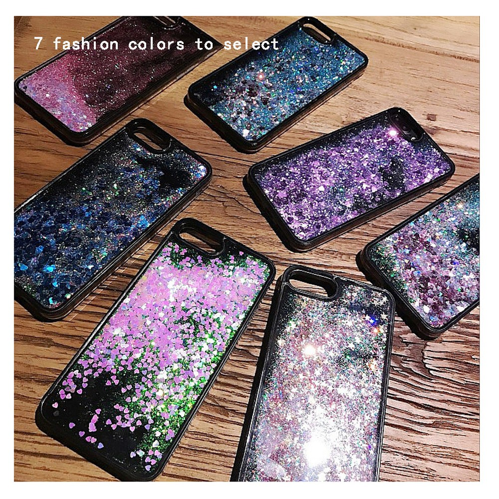 ae16f76b57 ProductImage. ProductImage. Liquid Quicksand Bling Sequins Case For iPhone  Xs Max X 8 7 6 6s Plus Hard Cover