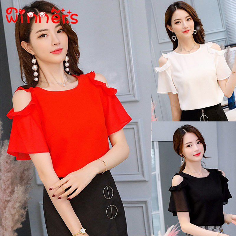9b1c74786506 Printed Round Neck Swallow Tail T-Shirt | Shopee Malaysia