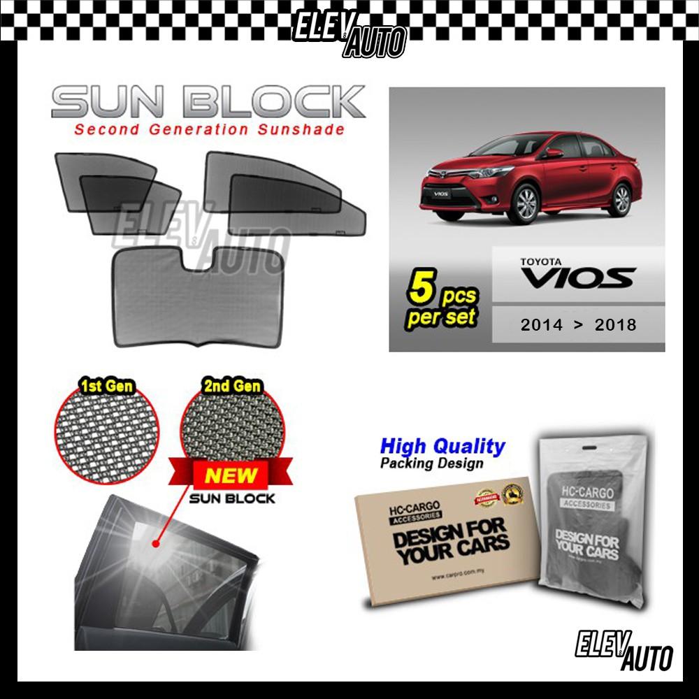 Toyota Vios 2014-2018 SUN BLOCK Premium Magnetic Sunshades