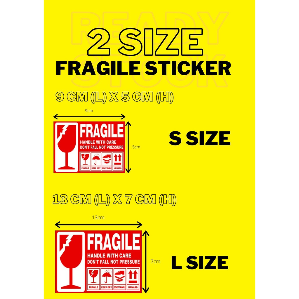 FRAGILE STICKER LABEL WARNING HANDLE WITH CARE 12pcs 54pcs 102pcs