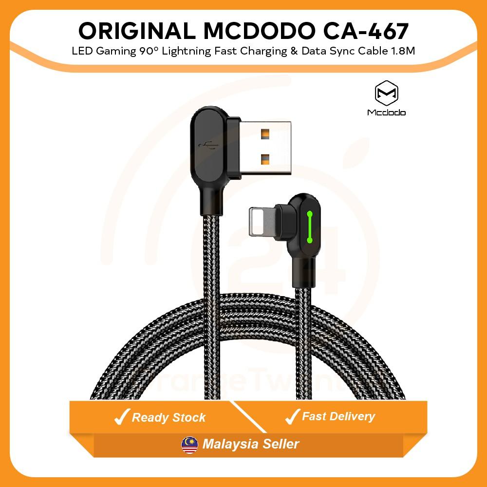 51f62c6d9ac ORIGINAL MCDODO CA-577 LED 90º Micro USB Gaming Cable 1.8M Charging & Data  Sync | Shopee Malaysia
