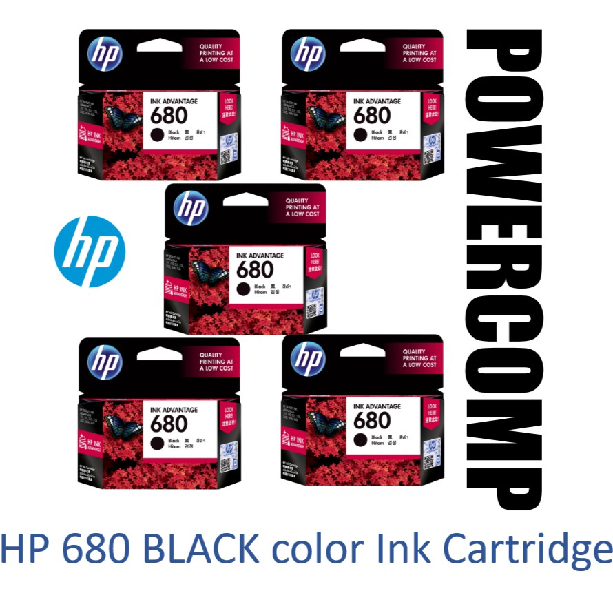 5 X Hp 678 Black Ink Cartridge Cz107aaexpired On Dec 2019 Catridge Cz107aa Original Shopee Malaysia