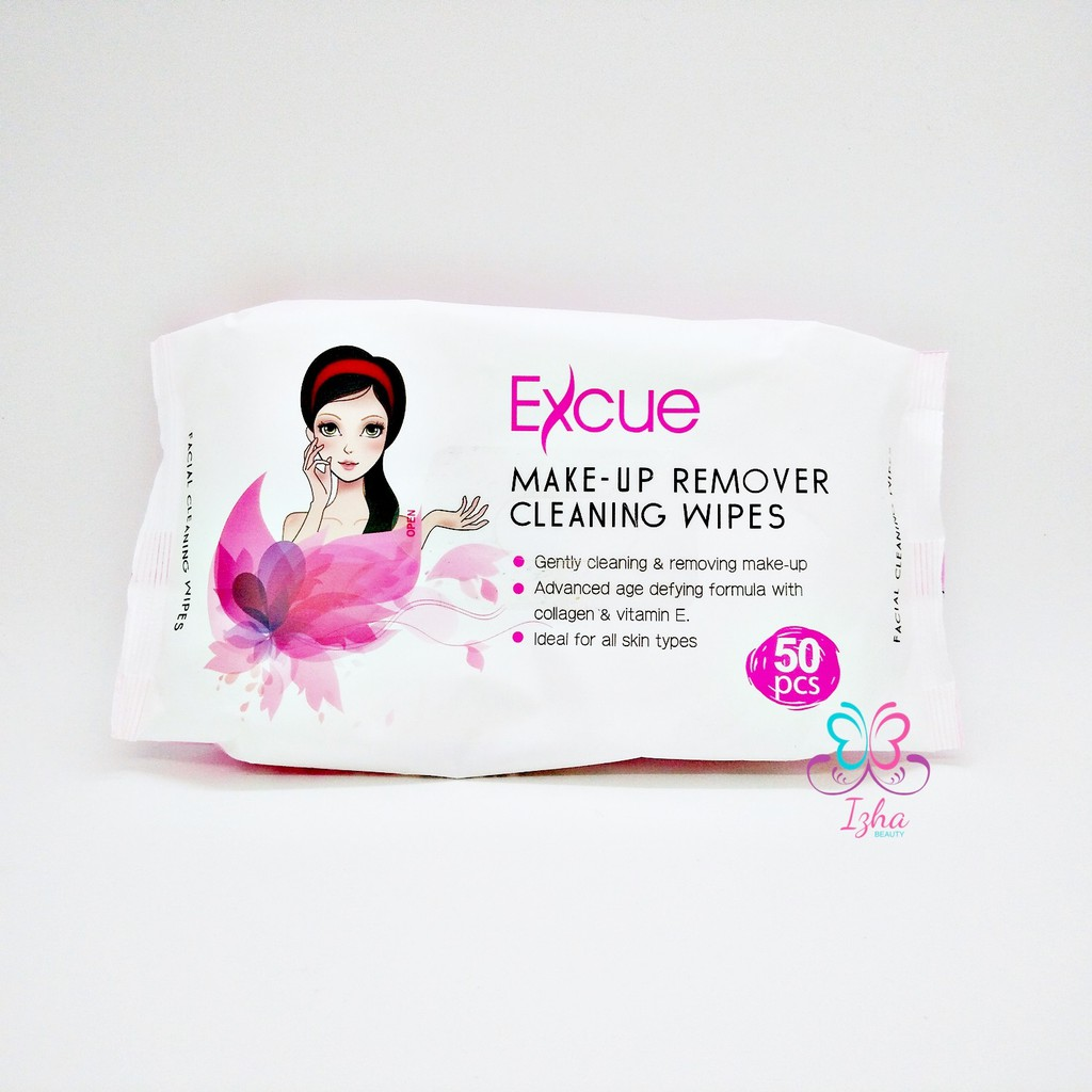 [EXCUE] Make-Up Remover Cleaning Wipes - 50pcs