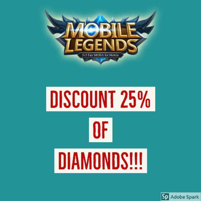 MOBILE LEGENDS DIAMONDS - DIAMOND DISCOUNT 25%