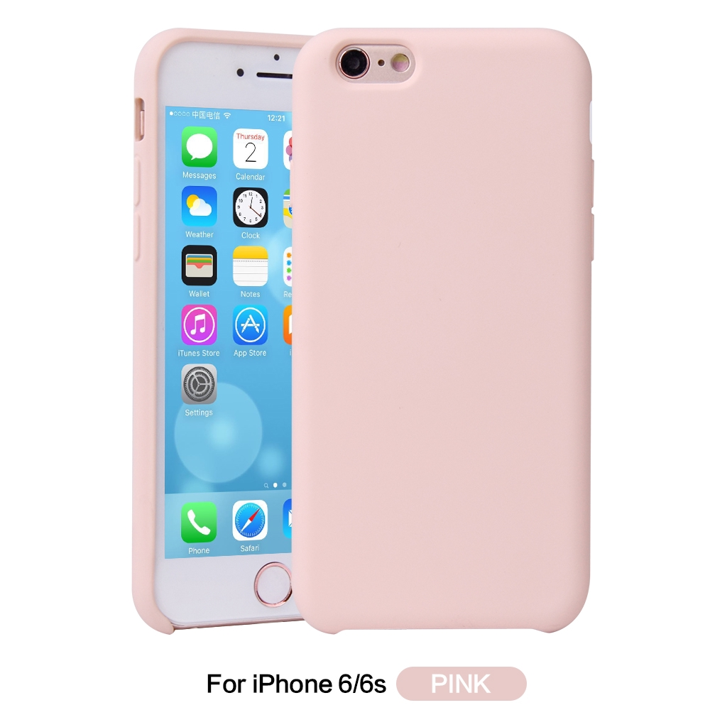612a7190ca New High-end Liquid Silicone Soft Phone Case For iPhone 6 6S Plus Cover