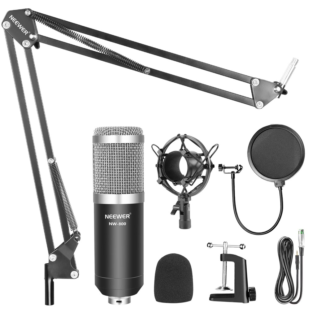 PRO NW-800 Studio Audio Recording Condenser Microphone with Suspension Stand Kit