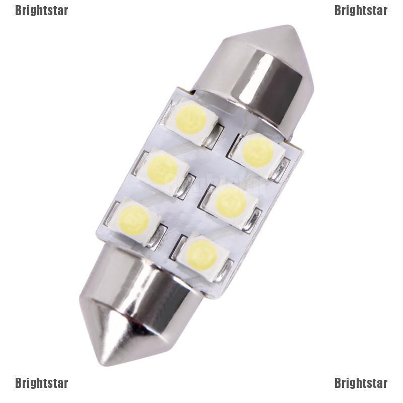 10X Xenon White 42MM 3528-12-SMD Festoon Dome Map Interior Car LED Light bulbs