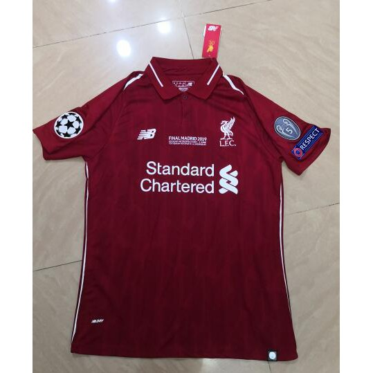 newest collection 0d7db fad3a Top quality 18-19 UCL final liverpool home jerseys with all UCL patch