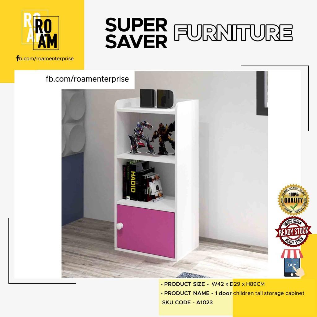 A1023 1 door children tall storage cabinet