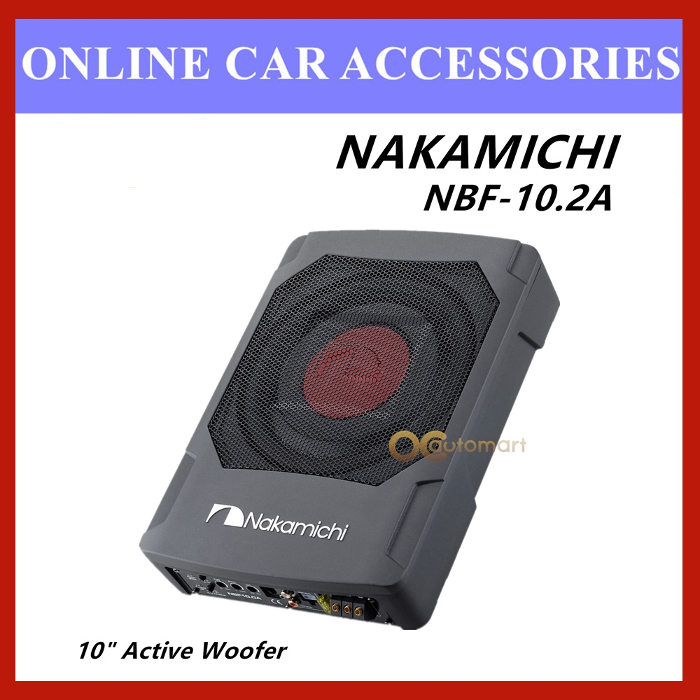 """NAKAMICHI 10"""" 900W Car Underseat Speaker Active Subwoofer NBF10.2A Woofer"""