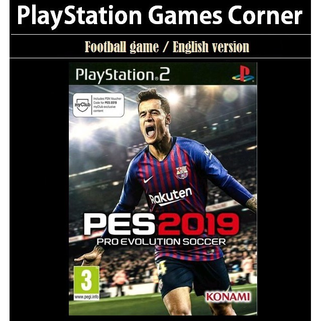 PS2 Game Pro Evolution Soccer 2019, PES 2019, English version, Football Game / Playstation 2