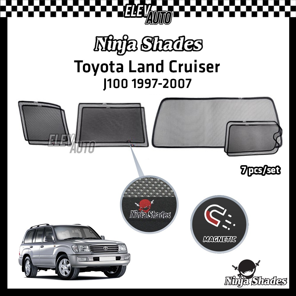 Toyota Land Cruiser J100 (1997-2007) Ninja Shades OEM Magnetic Sunshade