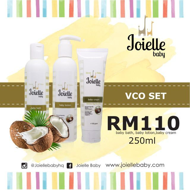 JOIELLE  BABY VIRGIN COCONUT OIL RANGE JOIELLE VCO SET AND LOOSE ITEM