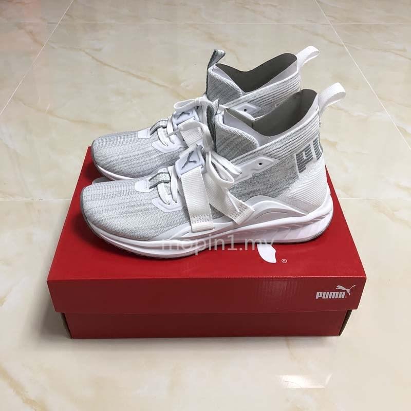 newest 92e27 3c18f Kasut Puma Ignite Evoknit 2 Casual Men's Shoes Gray-white Sports Running  shoes