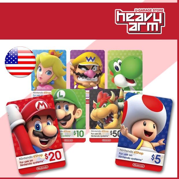 Nintendo Switch EShop Wallet 10USD | 20USD | 50USD (Digital) * USA *