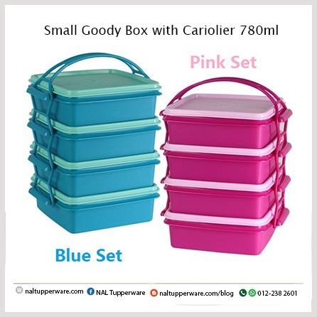 [Tupperware Brands] Small Goody Box with Cariolier 790ml - Mangkuk Tingkat 4 tingkat
