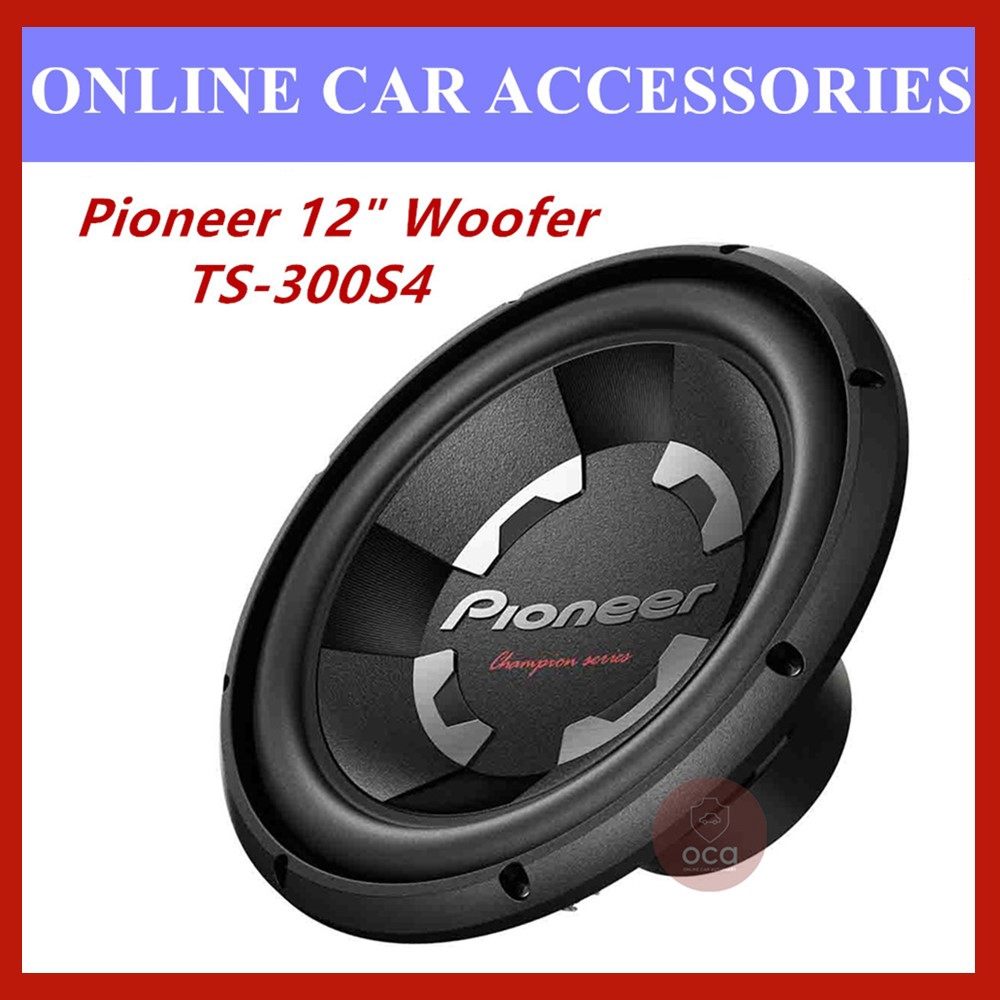 """Pioneer TS-300S4 12"""""""" Champion Series 1400W 4Ohm Single Voice Coil Car Subwoofer"""