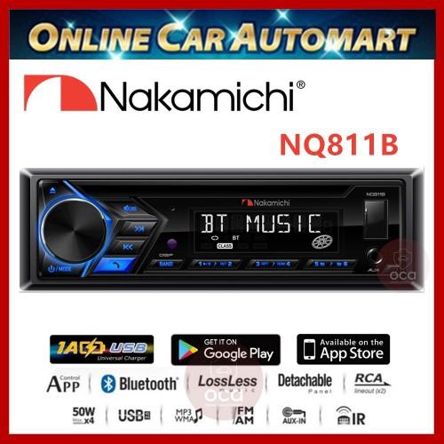NAKAMICHI NQ-811B Single DIN CD USB MP3 WMA FM Receiver Player