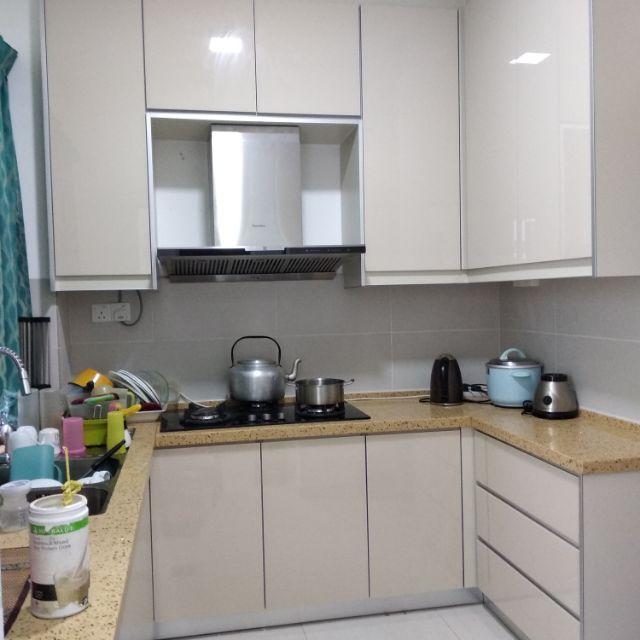 Kitchen Cabinet 4g Table Top Quarz Stone Shopee Malaysia