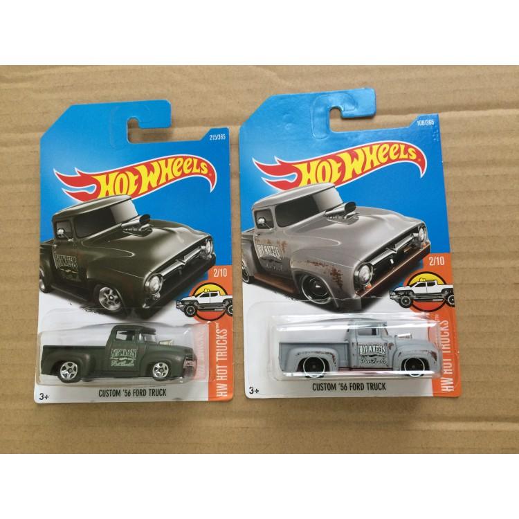 Hot Wheels Custom 56 Ford Truck Grey Green Shopee Malaysia