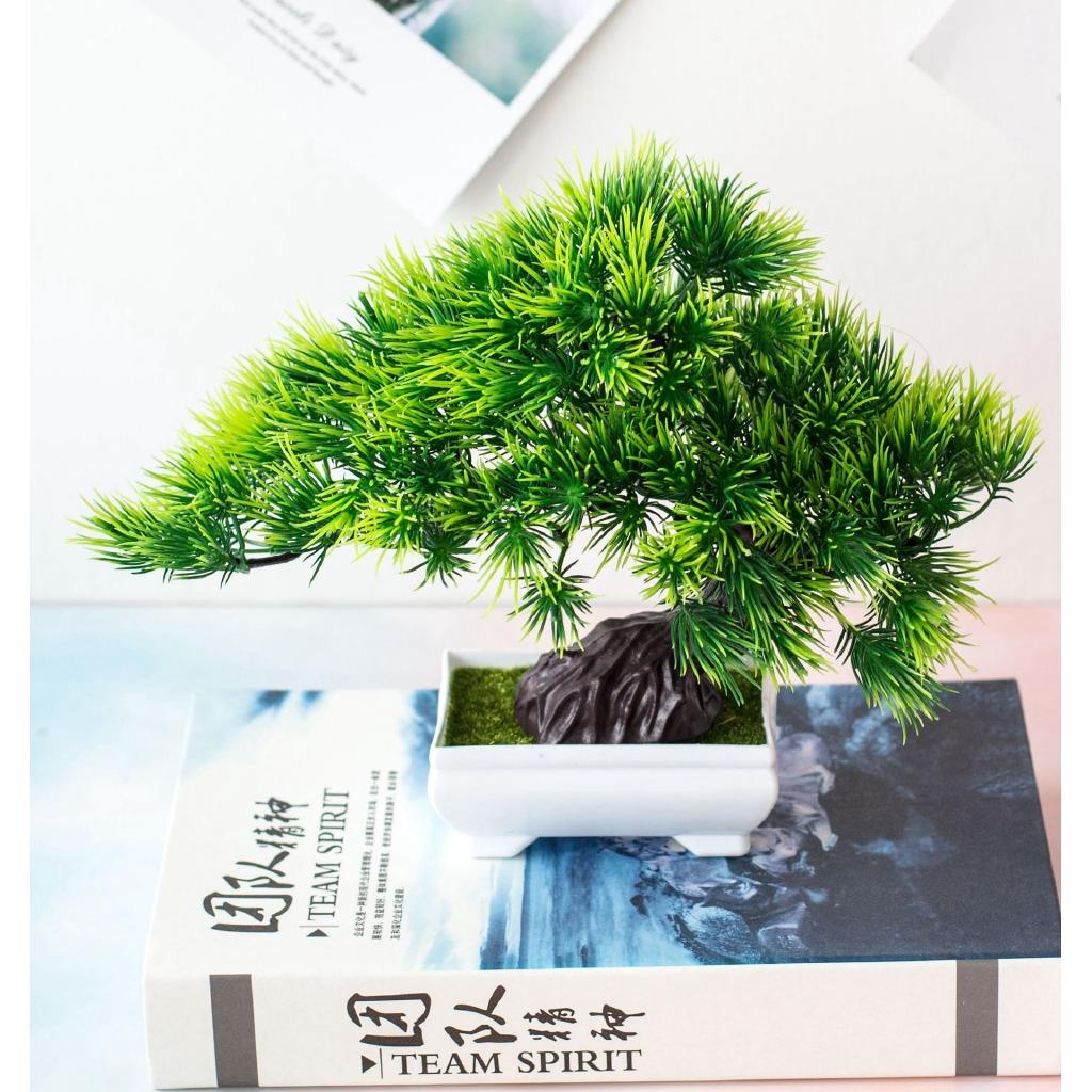 Artificial Plants Diy Simple Bonsai Small Tree Fake Plants Fake Flowers Potted Ornaments Bathroom Home Decor Hotel Garden Decor Shopee Malaysia