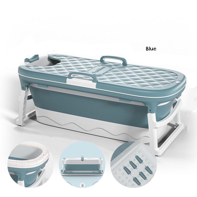 GDeal 138cm Large Foldable Adult Bath Tub & Portable Plastic Bathtub Largest Size with Bathtub Cover