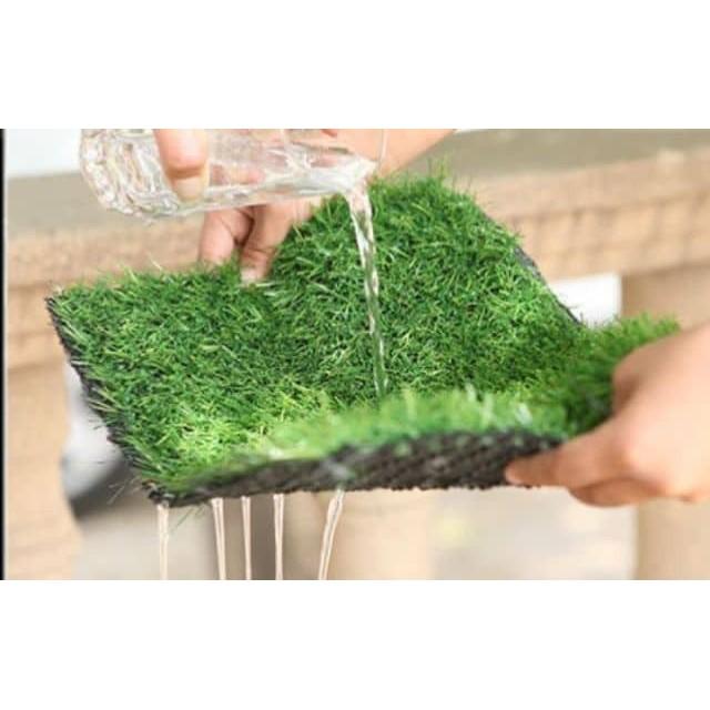 25 MM 1 FEET X 1 FEET ARTIFICIAL GRASS FAKE SYNTHETIC 1 KAKI X 1 KAKI